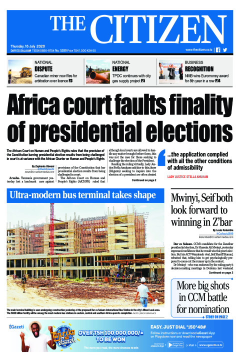 Africa court faults finality of presidential elections | The Citizen