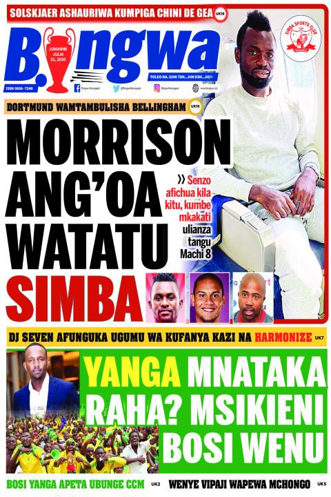 MORRISON ANG'OA WATATU SIMBA | Bingwa