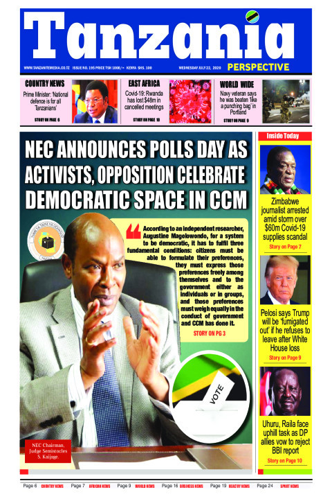 NEC ANNOUNCES POLLS DAY AS ACTIVISTS, OPPOSITION CELEBRATE D | Tanzania Perspective
