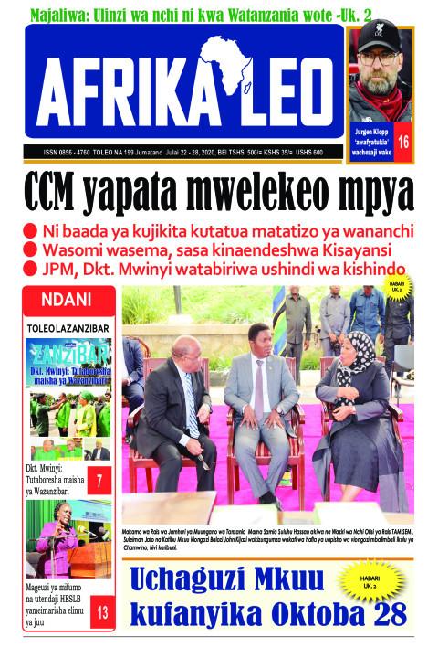 CCM yapata mwelekeo mpya | AFRIKA LEO