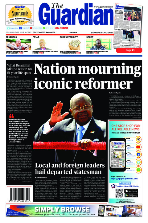 Nation mourning iconic reformer  | The Guardian