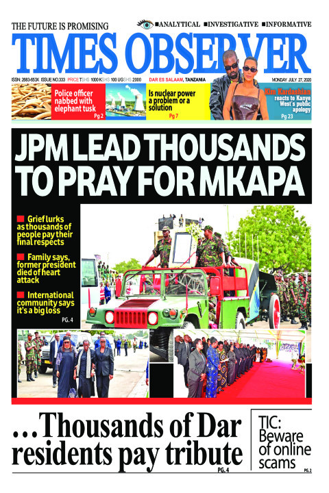 JPM LEAD THOUSANDS TO PRAY FOR MKAPA | Times Observer