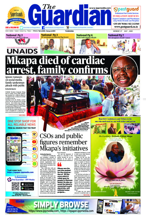 Mkapa died of cardiac arrest, family confirms | The Guardian