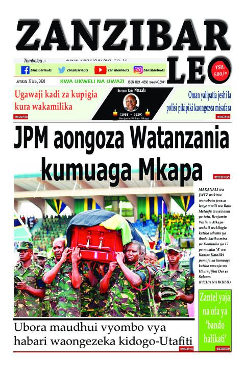 JPM aongoza Watanzania kumuaga Mkapa | ZANZIBAR LEO