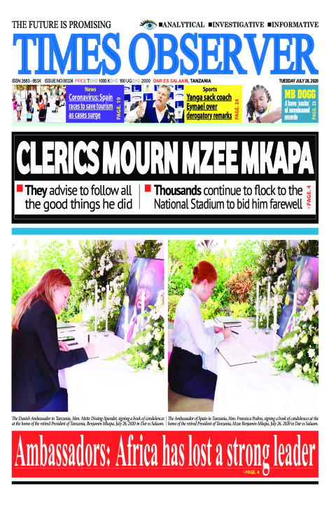 CLERICS MOURN MZEE MKAPA | Times Observer