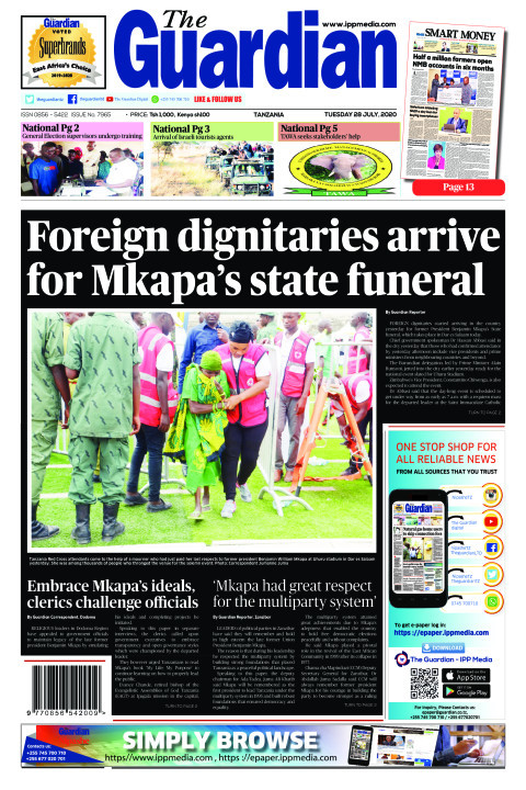 Foreign dignitaries arrive for Mkapa's state funeral | The Guardian