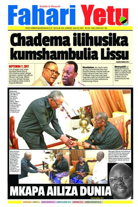 Chadema ilihusika kumshambulia Lissu | Fahari Yetu