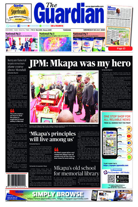 JPM: Mkapa was my hero | The Guardian