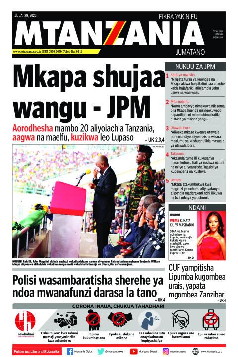 Mkapa shujaa wangu - JPM | Mtanzania