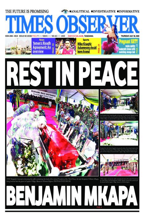 REST IN PEACE BENJAMIN MKAPA | Times Observer