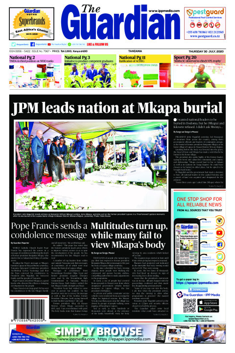 JPM leads nation at Mkapa burial | The Guardian