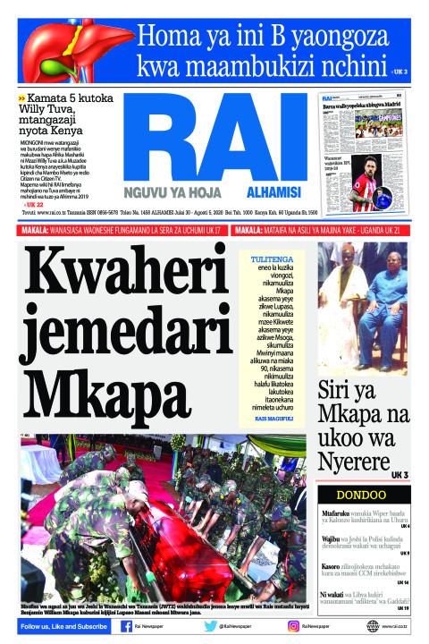 Kwaheri Jemedari Mkapa | Rai