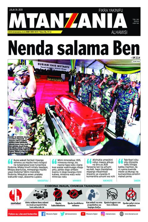 Nenda salama Ben | Mtanzania