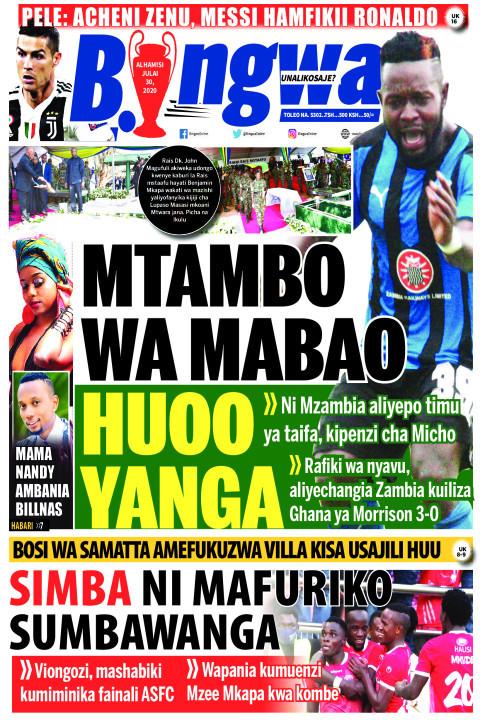 MTAMBO WA MABAO HUOO | Bingwa