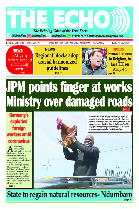 JPM points finger at works