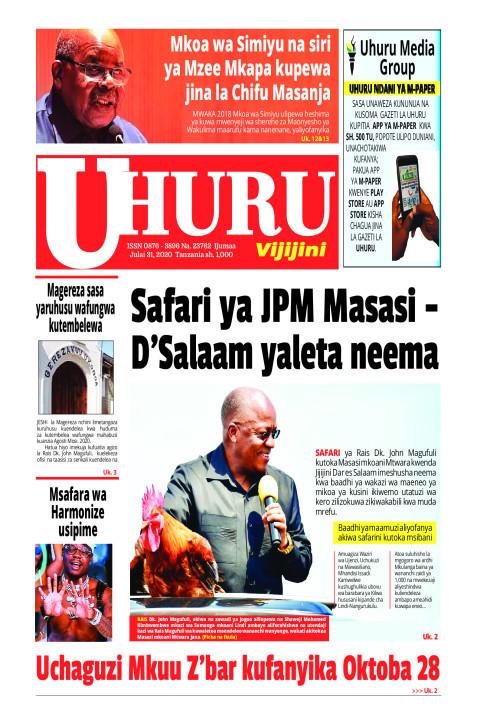 Safari ya JPM Masasi-Dar es Salaam yaleta neema   Uhuru