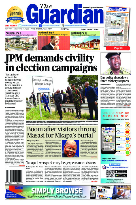 JPM demands civility in election campaigns | The Guardian