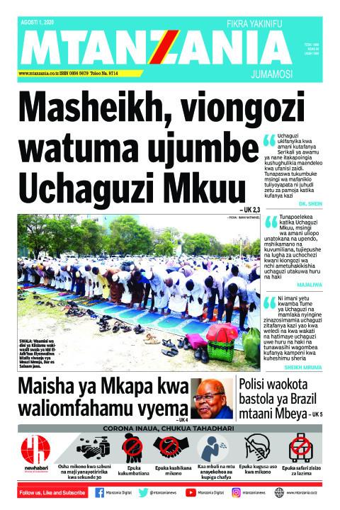 Masheikh, viongozi watuma ujumbe Uchaguzi Mkuu | Mtanzania