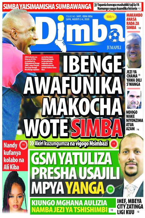 IBENGE AWAFUNIKA MAKOCHA WOTE SIMBA | DIMBA