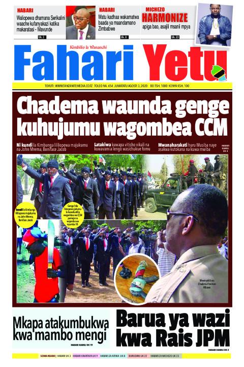 Chadema waunda genge kuhujumu wagombea CCM | Fahari Yetu