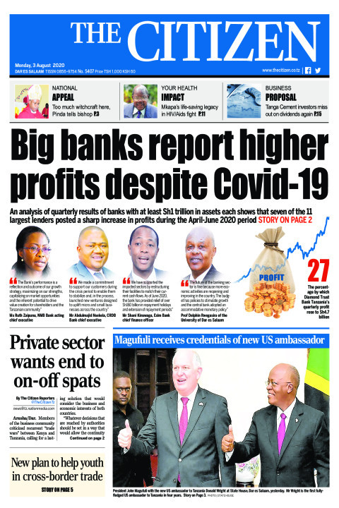 BIG BANKS REPORT HIGHER PROFITS DESPITE COVID-19