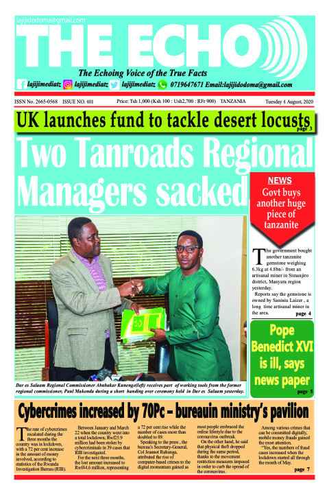 Two Tanroads Regional Managers sacked | The ECHO