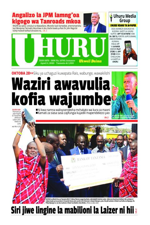 Waziri awavulia kofia wajumbe   Uhuru