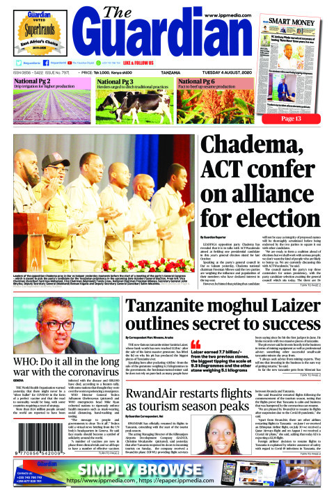 Chadema, ACT confer on alliance for election | The Guardian