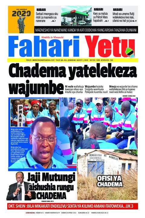 Chadema yatelekeza wajumbe | Fahari Yetu