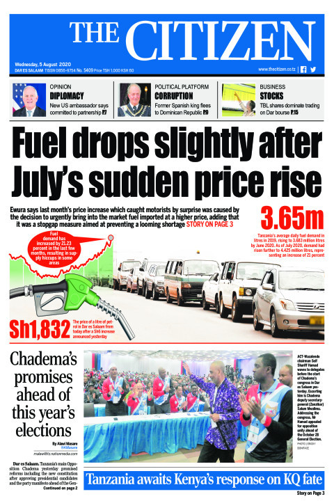 FUEL DROPS SLIGHTLY AFTER JULY'S SUDDEN PRICE RISE