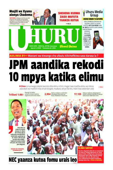 JPM AANDIKA REKODI 10 MPYA KATIKA ELIMU | Uhuru