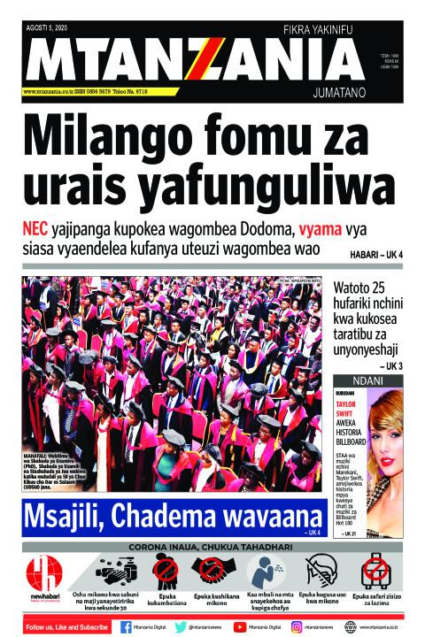 Milango fomu za urais yafunguliwa | Mtanzania