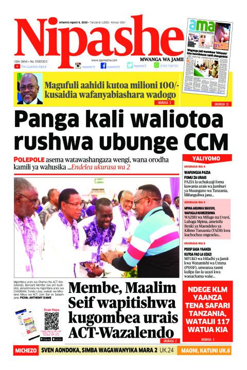 Panga kali waliotoa rushwa ubunge CCM | Nipashe
