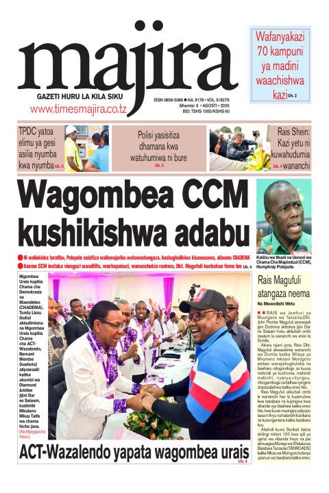 Wagombea CCM kushikishwa adabu | MAJIRA