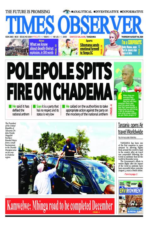 POLEPOLE SPITS FIRE ON CHADEMA | Times Observer