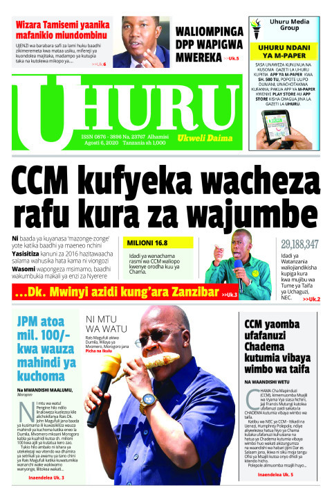 CCM KUFYEKA WACHEZA RAFU KURA ZA WAJUMBE   Uhuru