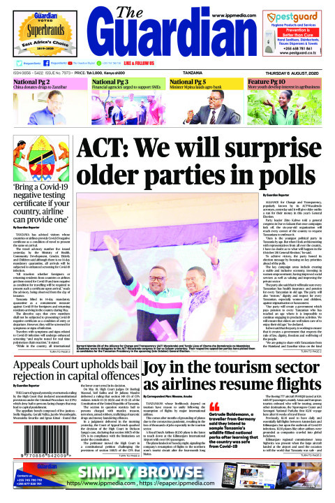 ACT: We will surprise older parties in polls | The Guardian
