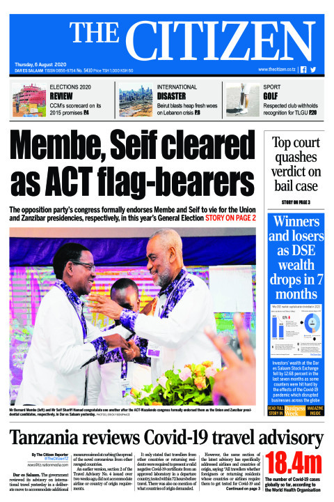 MEMBE, SEIF CLEARED AS ACT FLAG-BEARERS