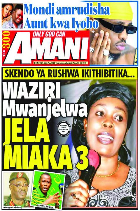 WAZIRI Mwanjelwa JELA MIAKA 3 | AMANI