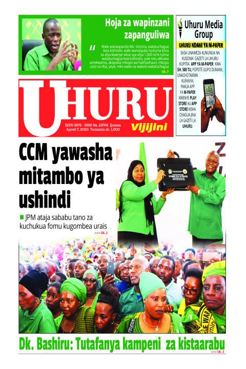 CCM yawasha mitambo ya ushindi   Uhuru
