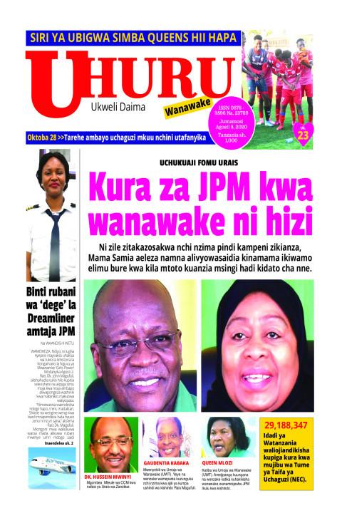 Kura za JPM kwa wanawake hizi hapa   Uhuru
