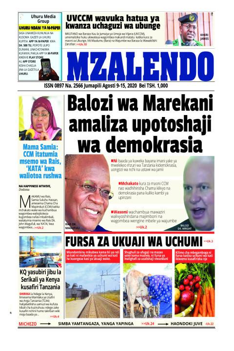 BALOZI WA MAREKANI AMALIZA UPOTOSHAJI WA DEMOKRASIA | Mzalendo