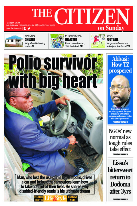 POLIO SURVIVOR WITH BIG HEART