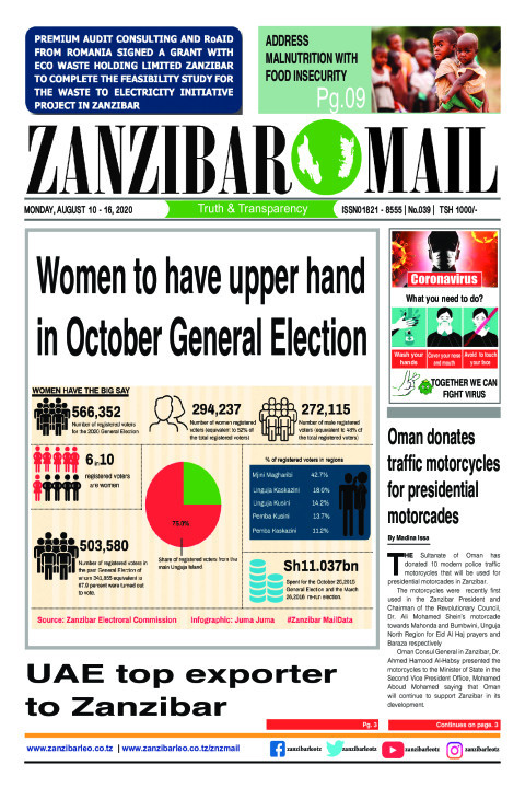 Women to have upper hand in October General Election | ZANZIBAR MAIL