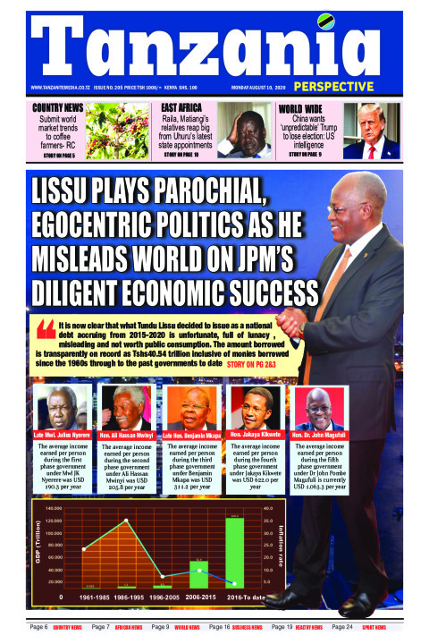 LISSU PLAYS PAROCHIAL EGOCENTRIC  AS HE MISLEADS WORLD ON JP | Tanzania Perspective
