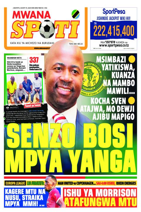 SENZO BOSI MPYA YANGA  | Mwanaspoti