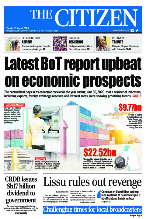 LATEST BOT REPORT UPBEAT ON ECONOMIC PROSPECTS