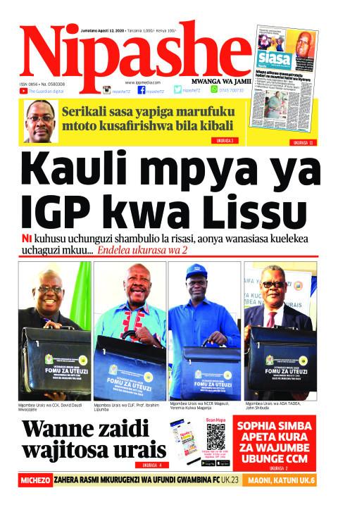 Kauli mpya ya IGP kwa Lissu  | Nipashe