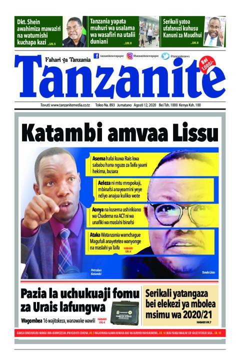 Katambi amvaa Lissu | Tanzanite