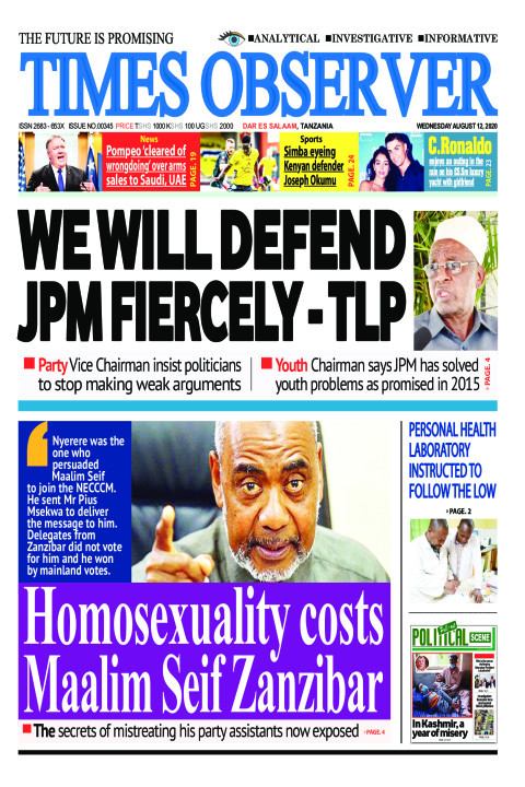 WE WILL DEFEND JPM FIERCELY - TLP | Times Observer